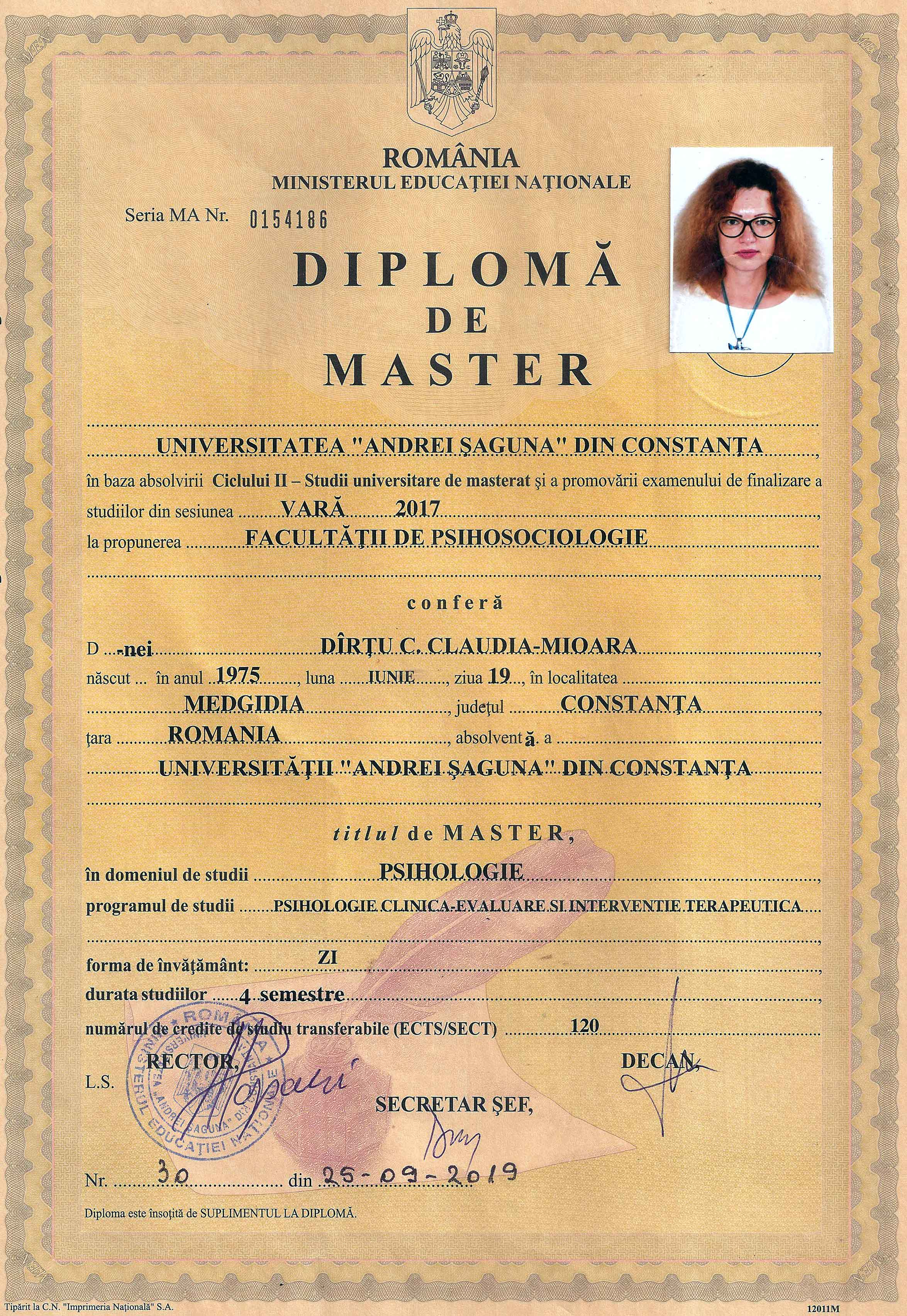 Psihologie clinica-evaluare si interventie terapeutica - Psiholog Claudia Mioara Popa